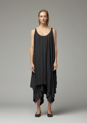 Issey Miyake Women's Parasol Color Pleats Mid Crossback Dress in Black Size 2