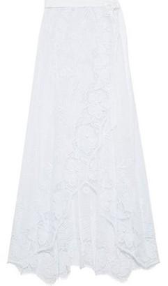 Miguelina Valencia Crocheted Cotton Maxi Wrap Skirt