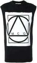 McQ by Alexander McQueen glyph icon print tank top - men - Cotton - XS