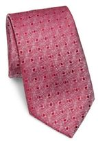 Charvet Square Small Pattern Silk Tie