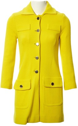 Schumacher Yellow Wool Coat for Women
