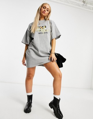 Sixth June T-shirt dress with girls gang graphic