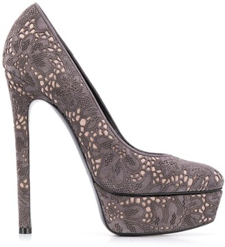 Casadei 145mm Laser Cut Pumps