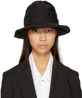 Y's Ys Black Four-Piece Patch Fedora