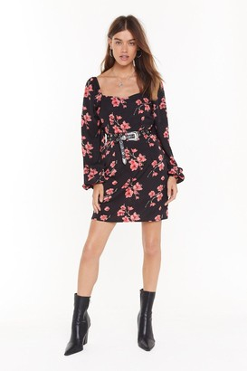 Nasty Gal Womens Tree Got You Floral Mini Dress - Black
