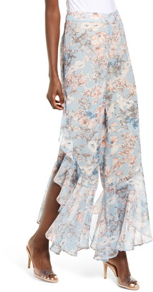 Sndys Dolly Floral Ruffle Chiffon Pants
