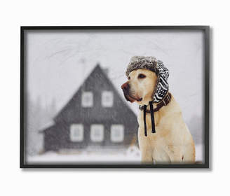 """Golden Retriever Stupell Industries Nordic Vibes Dog Framed Giclee Art, 11"""" x 14"""""""