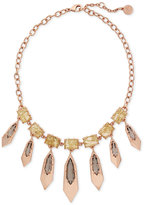 Vince Camuto Rose Gold-Tone Stone and Metallic Collar Necklace