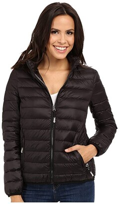 Tumi Clairmont Packable Travel Puffer Jacket (Black) Women's Coat