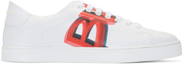 Burberry White and Red Albert Sneakers