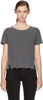Amo Black Twist Cut-out T-shirt