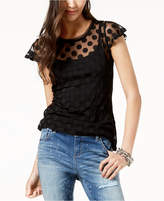 INC International Concepts I.n.c. Petite Dot-Print Illusion Top, Created for Macy's
