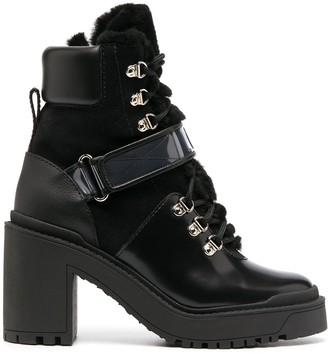 Valentino Heeled Lace-Up Boots