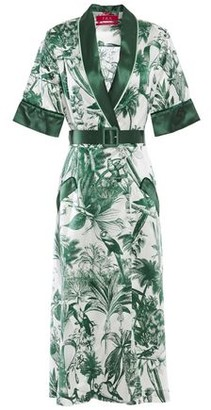 F.R.S For Restless Sleepers Panacea Printed Cotton And Silk-blend Twill Midi Dress