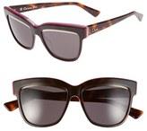 Christian Dior Women's 55Mm Cat Eye Sunglasses - Havana/ Plum/ Pink