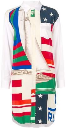 Polo Ralph Lauren Flag Sailboat Print Shirt Dress
