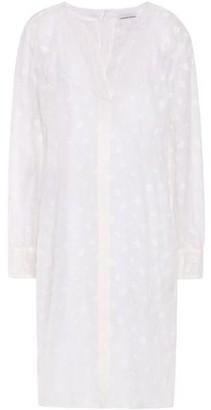 Mansur Gavriel Embroidered Linen-blend Gauze Dress
