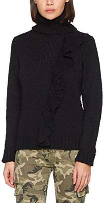 Only Women's Onlnatali L/s Rollneck Pullover KNT Turtleneck, Detail:w. Black Glitter, 36 (Size: )