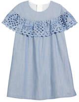 Chloé Strawberry Eyelet Ruffle Dress, Size 6-10