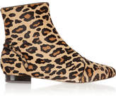 Charlotte Olympia Puss In Boots Leopard-print Calf Hair Ankle Boots - Leopard print