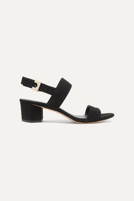 Diane von Furstenberg Link Suede Slingback Sandals - Black