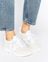 Asics Textured Leather Gel-Lyte V Sneakers In Off White