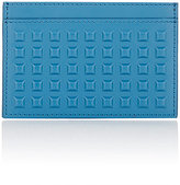 Balenciaga Men's Grid-Embossed Card Case-BLUE