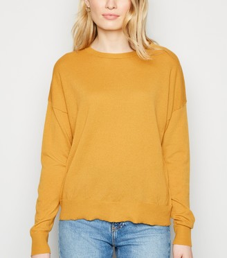 New Look Crew Neck Ribbed Trim Jumper