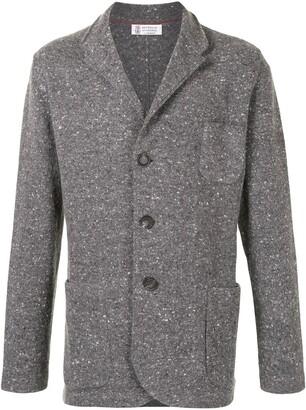 Brunello Cucinelli Flecked Knitted Blazer Cardigan