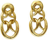 One Kings Lane Vintage Givenchy Statement Gold-Plated Earrings