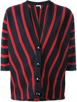 Chloé striped short-sleeve cardigan