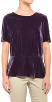 Specially made Velour Peplum Shirt - Short Sleeve (For Women)