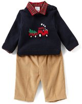 Starting Out Baby Boys 3-24 Months Tractor Sweater, Button-Down Shirt, & Pants 3-Piece Set