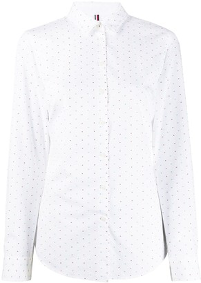 Tommy Hilfiger dotted jacquard shirt