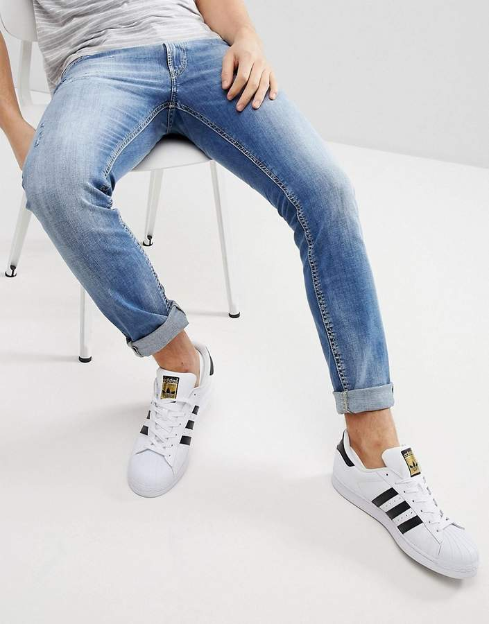 Diesel Thommer Distressed Tapered Jeans