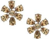 Topshop Premium cubic zirconia flower earrings