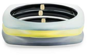 Alexis Bittar Set of 3 Square Lucite(R) Bangle Bracelets
