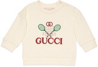 Gucci Baby sweatshirt with Tennis