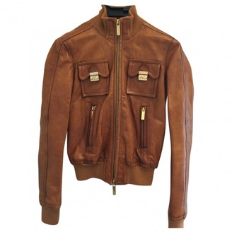 DSQUARED2 Camel Leather Leather Jacket for Women
