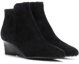 Tod's Suede Wedge Ankle Boots