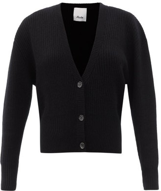 Allude Dropped-sleeve Cashmere Cardigan - Black