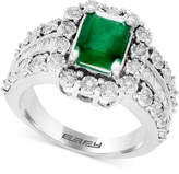 Effy Brasilica by Emerald (1-3/8 ct. t.w.) & Diamond (3/4 ct. t.w.) Ring in 14k White Gold