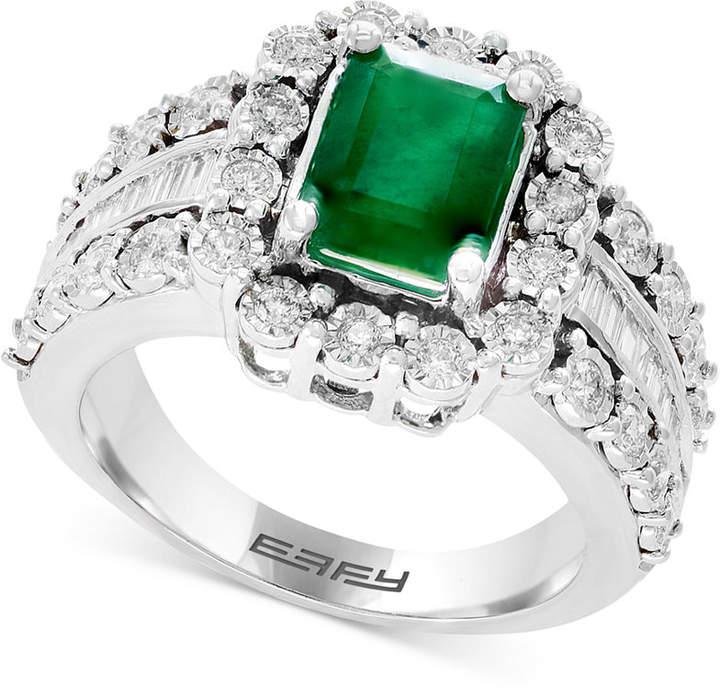 Effy Brasilica by Emerald (1-3/8 ct. t.w.) & Diamond (3/4 ct. t.w.) Ring in 14k White Gold