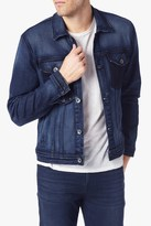 7 For All Mankind Trucker Jacket In Indigo Shadow