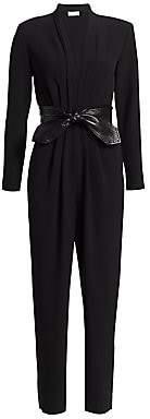 A.L.C. Women's Kieran Leather Tie-Belt Jumpsuit