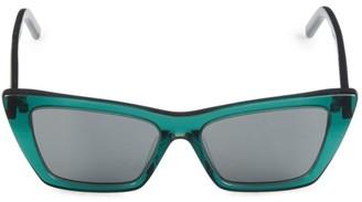 Saint Laurent 53MM Rectangle Sunglasses