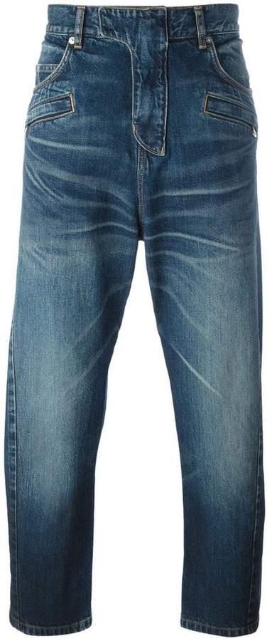 Balmain dropped crotch jeans