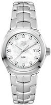 Tag Heuer Link Diamonds, Mother-of-Pearl and Stainless Steel Bracelet Watch