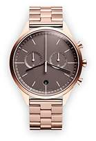 Uniform Wares C39 Quartz Watch with Grey Chronograph Dial with Rose Gold Stainless Steel Strap