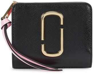 Marc Jacobs Snapshot black leather wallet